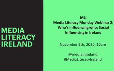 Look Back: 'Media Literacy Monday: Who's influencing who? A look at social media influencing in Ireland'